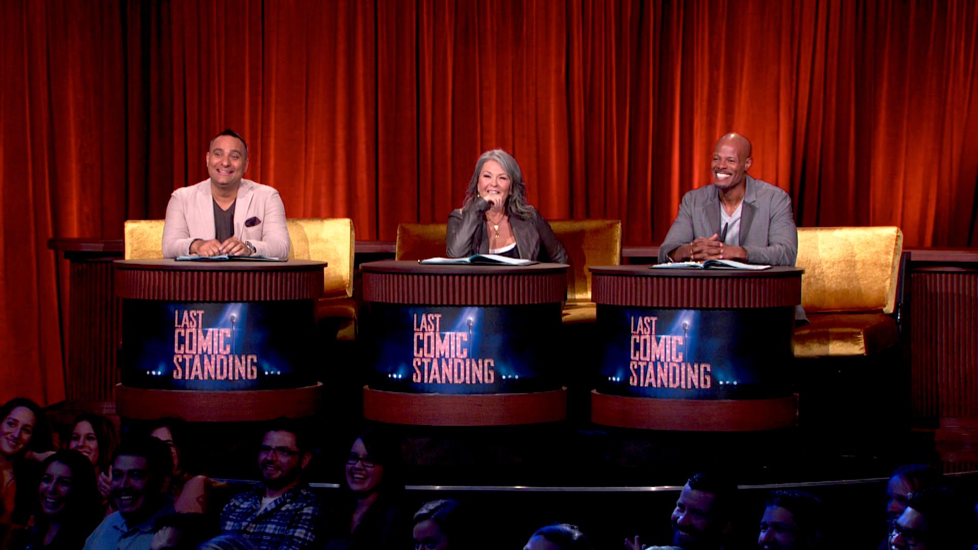 (L-R) Russell Peters, Roseanne Barr, Keenan Ivory Wayans