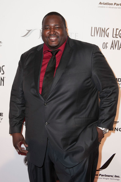 Quinton Aaron arrives for the 11th Annual Living Legends Of Aviation Awards at The Beverly Hilton Hotel on January 17, 2014 in Beverly Hills, California