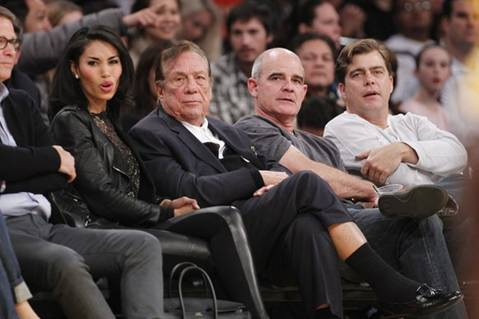 Stiviano and Sterling at Clippers game