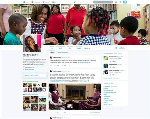 Twitter, FB like Design