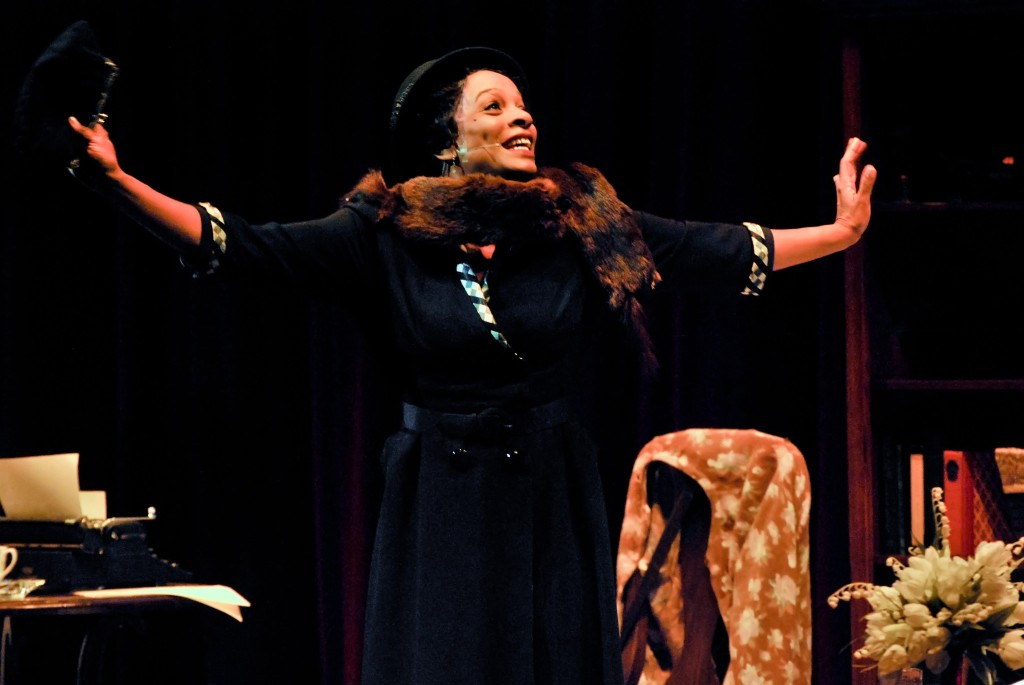 """Vanessa Bell Calloway spreads her wings as Zora Neal Hurston in """"Letters From Zora"""" currently at the Pasadena Playhouse (Photo by  Chris Roman)"""