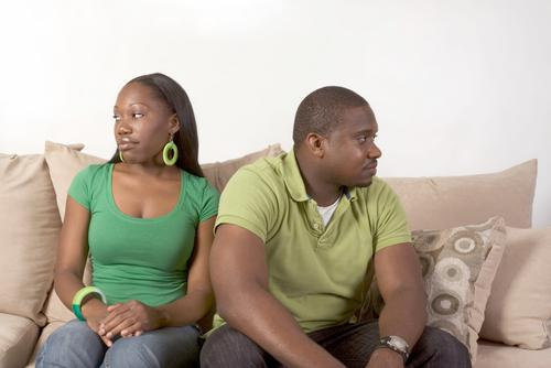 frustrated black couple
