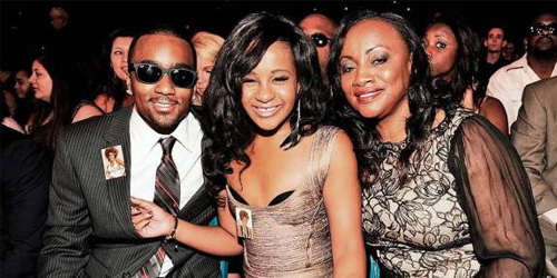 (L-R) Nick Gordon, Bobbi Kristina and Pat Houston in happier times