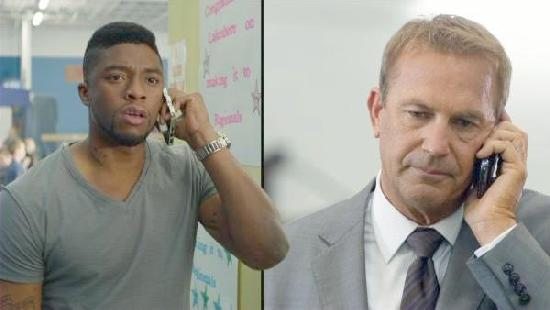 Chadwick Boseman & Kevin Costner in 'Draft Day'