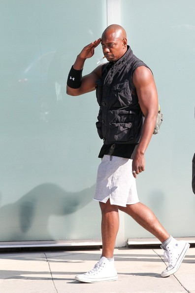 Dave Chappelle leaves the gym on April 15, 2014.