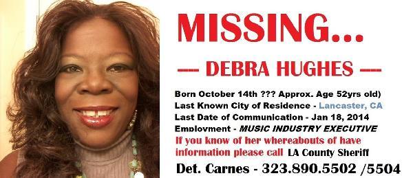 debra hughes - missing