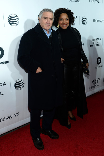 "Tribeca Film Festival Co-founder Robert De Niro (L) and Grace Hightower attend the ""Time Is Illmatic"" Opening Night Premiere during the 2014 Tribeca Film Festival at The Beacon Theatre on April 16, 2014 in New York City"