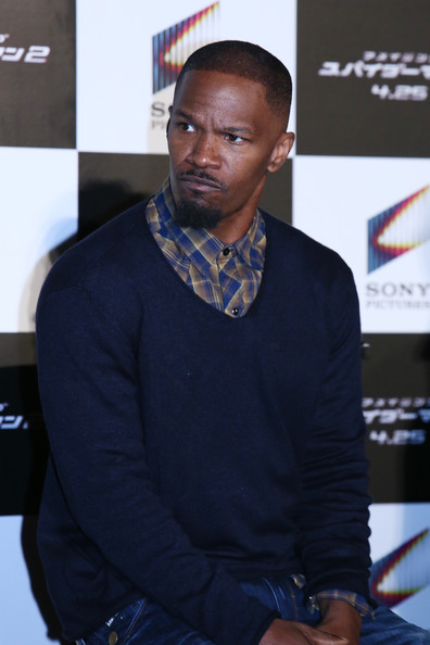 "Jamie Foxx attends ""The Amazing Spider-Man 2: Rise Of Electro"" press conference on March 31, 2014 in Tokyo, Japan"