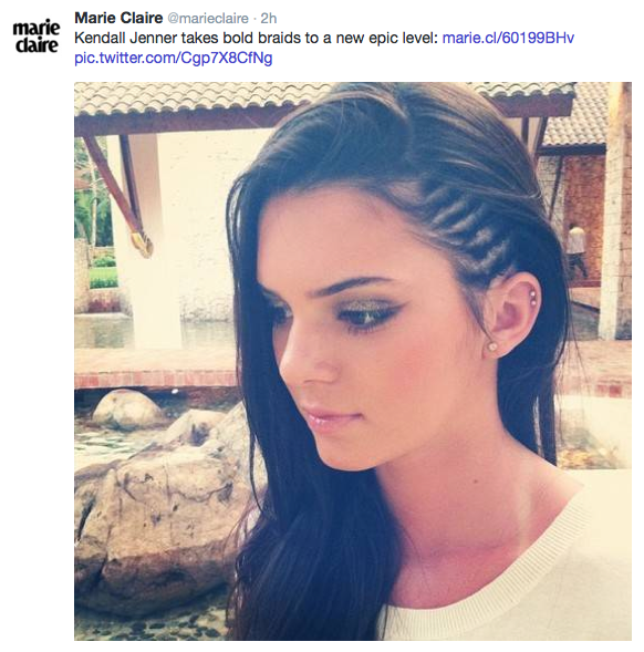 kendall jenner braids,