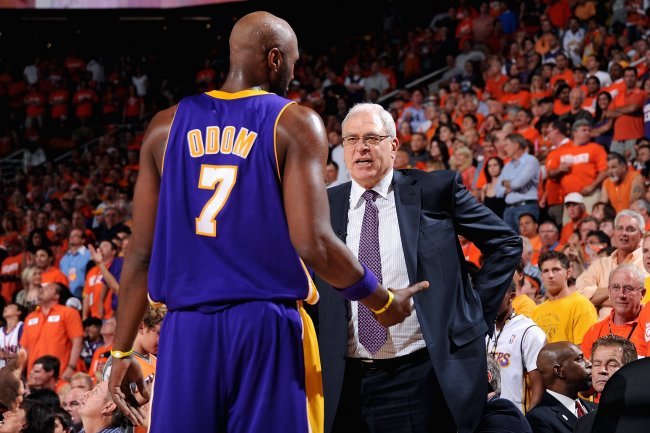 Lamar Odom and Phil Jackson