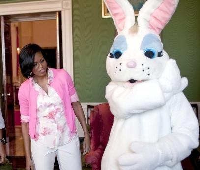 michelle obama & easter bunny