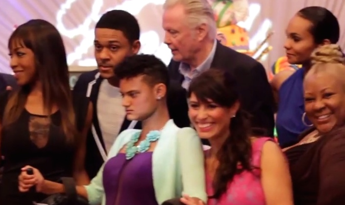 Pooch Hall, Djanai Hall, Jon Voight and Linda Hall at Djanai's Angels' Special Needs Family Prom/Sweet 16 at Le Foyer Ballroom in North Hollywood, CA. (March 2014)