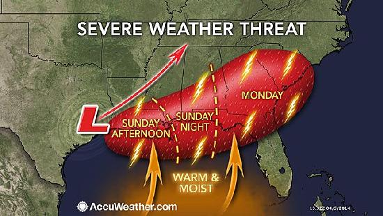 severe weather in southeast