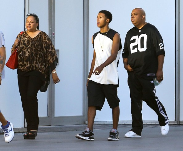 Joseph Simmons aka Reverend Run, his wife Justine and their son Diggy spotted out and about in Miami, Florida on October 10, 2013