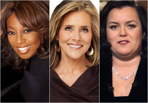 Former co-hosts of 'The View' (L-R) Star Jones, Meredith Viera, Rosie O'Donnell