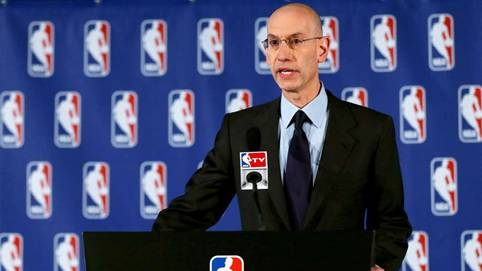 "Adam Silver held a press conference to tell of Donald Sterling's banishment from future games, meetings, etc. around The Clippers organization. He also said Sterling would be ""encouraged"" to sell the team."