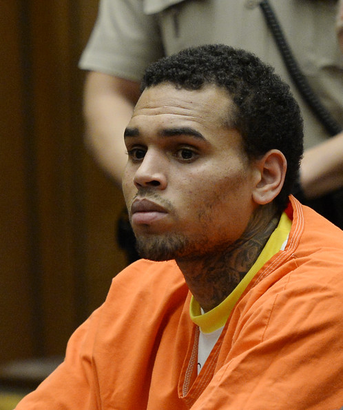 Chris Brown LA court -1