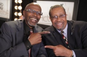 Actor Ernest L. Thomas and Host Ron Brewington