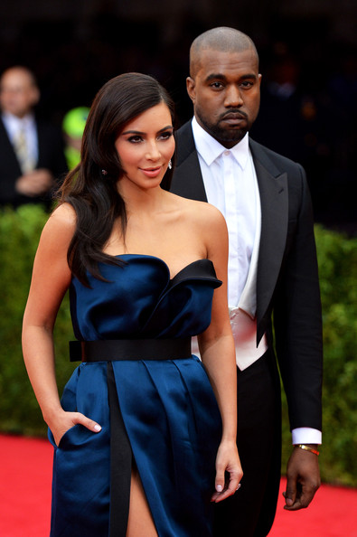 "Kim Kardashian (L) and Kanye West attend the ""Charles James: Beyond Fashion"" Costume Institute Gala at the Metropolitan Museum of Art on May 5, 2014 in New York City"