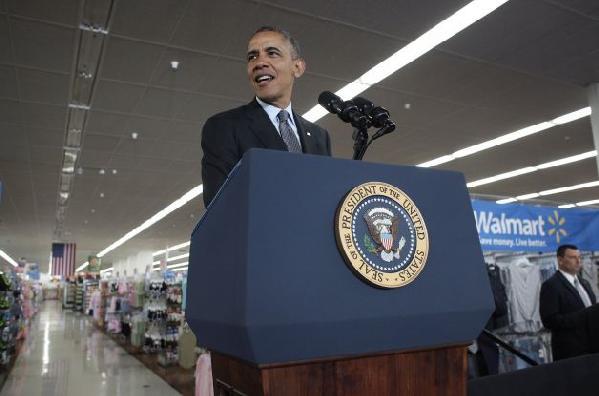 Obama at Walmart, Mountain View