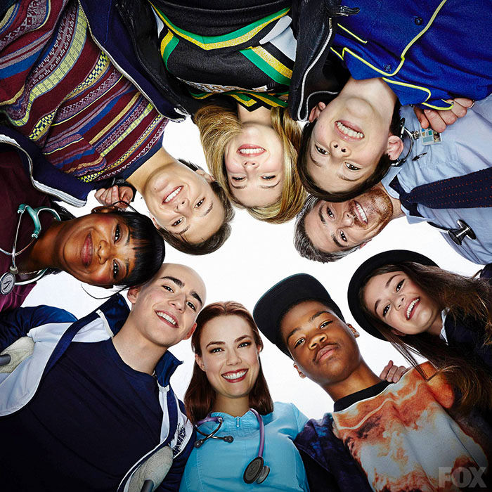 "The patients on Nurse Jackson's pediatric ward in Fox's ""Red Band Society"""