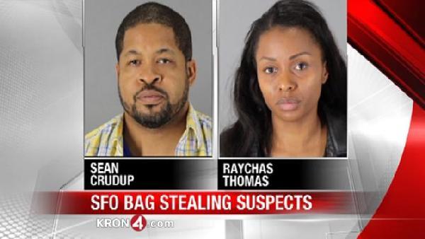 Stolen luggage couple