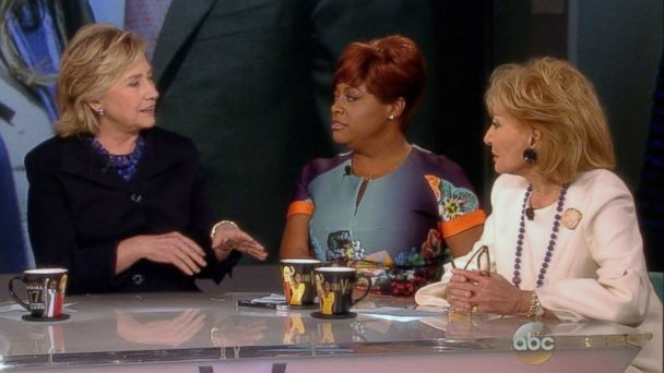 """Hillary Clinton appears on """"The View"""" with Sherri Shepherd and Barbara Walters on May 16, 2014. ABC News"""