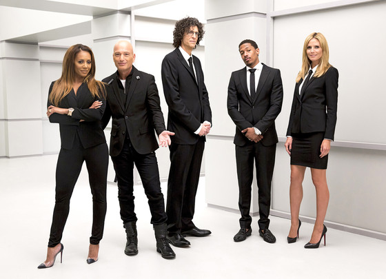 "AMERICA'S GOT TALENT -- ""Judges Setup at Stage 41"" -- Pictured: (l-r) Mel B, Howie Mandel, Howard Stern, Nick Cannon, Heidi Klum -- (Photo by: Paul Drinkwater/NBC)"