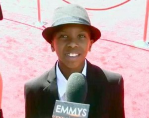 """Anthony Michael Hobbs at the 2013 Emmy Awards representing PBS special """"The Abolitionist."""""""