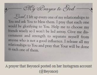 beyonce prayer