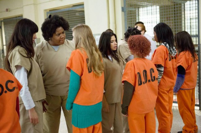 """Adrienne C. Moore as Black Cindy (second left) in """"Orange is the New Black"""""""