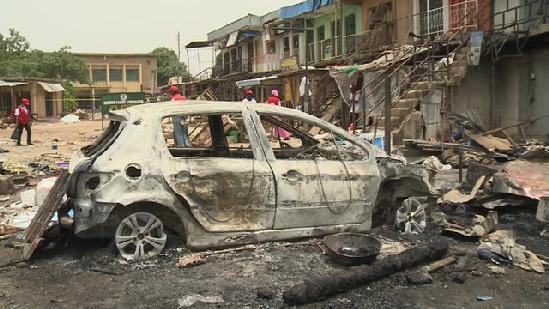 burned car - boko haram