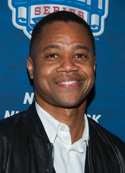 Actor Cuba Gooding Jr. arrives at the 2014 Coors Light NHL Stadium Series Los Angeles at Dodger Stadium on January 25, 2014 in Los Angeles