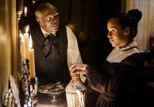 "Samuel L. Jackson and Kerry Washington in ""Django Unchained"""