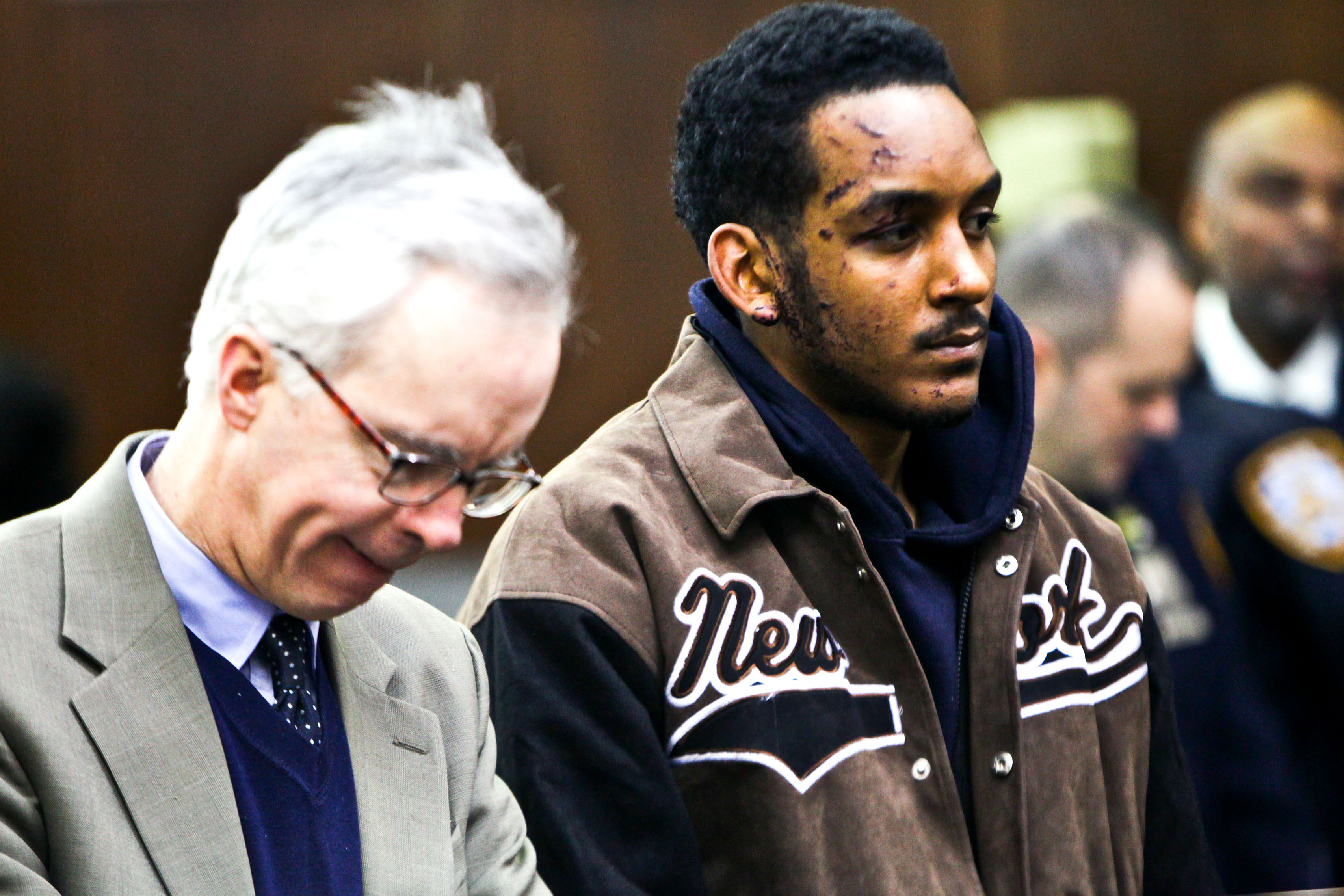 Domonic Whilby the driver that killed MTA bus driver is arraigned at Manhattan Criminal Court on Thursday, February 13, 2014.