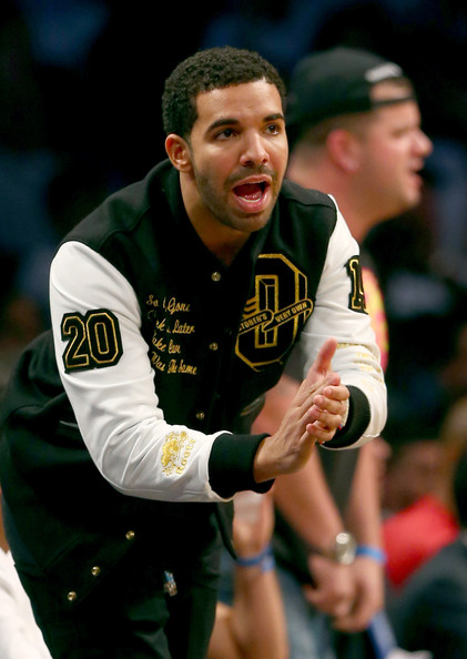 Drake attends Game Six of the Eastern Conference Quarterfinals during the 2014 NBA Playoffs at the Barclays Center on May 2, 2014 in the Brooklyn borough of New York City