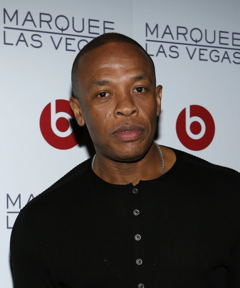 Founder of Beats Electronics, Dr. Dre arrives at the Beats by Dr. Dre CES after-party at the Marquee Nightclub at The Cosmopolitan of Las Vegas on January 10, 2013 in Las Vegas, Nevada