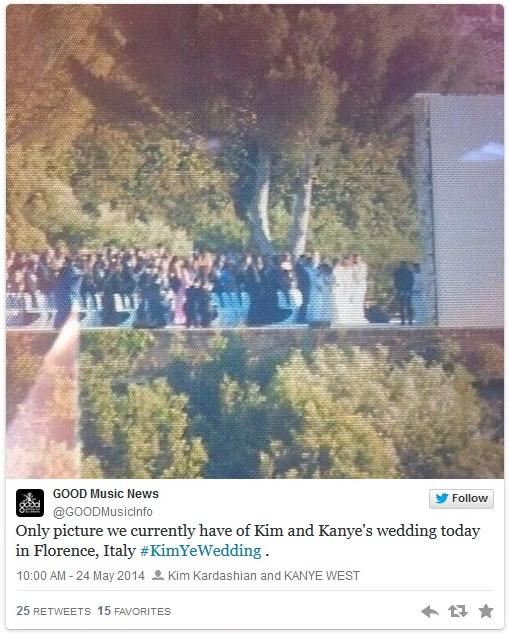kimye wedding tweet