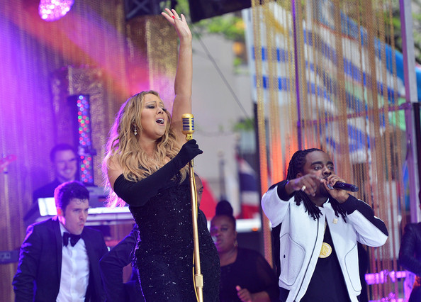 Singer Mariah Carey performs on NBC's 'Today' at Rockefeller Center on May 16, 2014 in New York City
