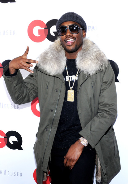 Rapper Meek Mill attends the GQ Super Bowl Party 2014 sponsored by Patron Tequila, Van Heusen, and Miller Fortune on January 31, 2014 in New York City