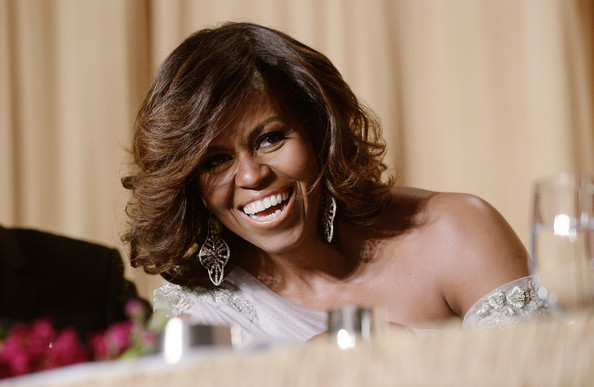 First Lady Michelle Obama attends the annual White House Correspondent's Association Gala at the Washington Hilton hotel May 3, 2014 in Washington, D.C.