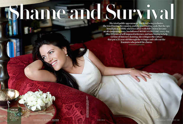 Monica Lewinsky spread in Vanity Fair