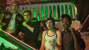 Universal Pictures' presentation of Neighbors stars Zac Efron (left).