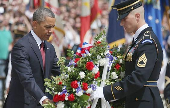 obama (unknown soldier ceremony)