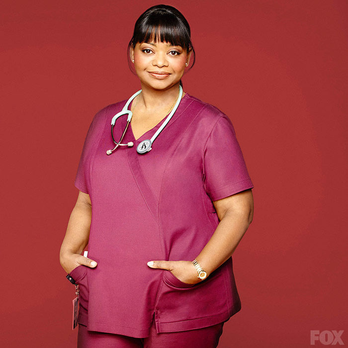 "Octavia Spencer as Nurse Jackson in Fox's ""Red Band Society"""