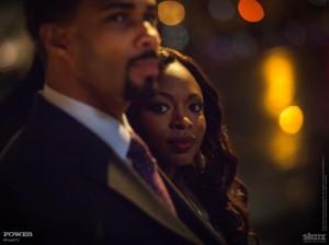 """Omari Hardwick and Naturi Naughton in Starz series """"Power"""""""