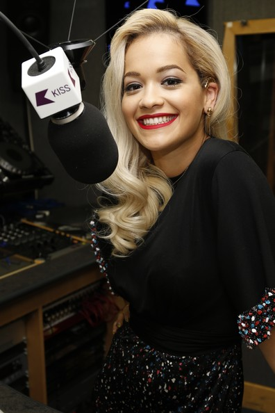 Rita Ora pictured at Kiss FM Studio's on May 13, 2014 in London, England