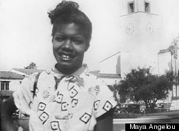 Maya Angelou in a child in San Francisco