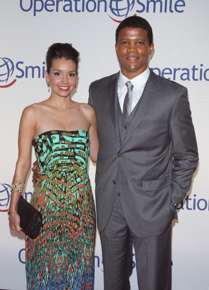 Bethany Hotchkiss and honoree Sharif Atkins attend the Operation Smile's Smile Event at Cipriani Wall Street on May 1, 2014 in New York City.