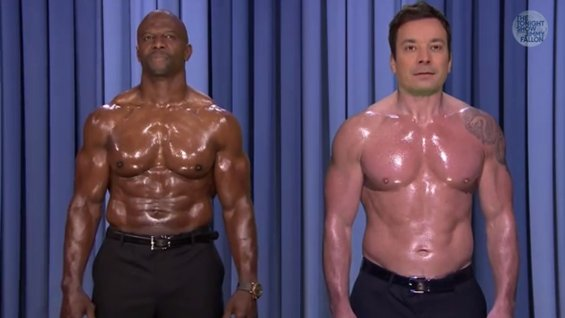 terry crews & jimmy fallon